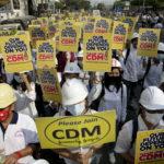 """I manifestanti invitano alla protesta: """"Per favore, unitevi al CDM (Movimento di Disobbedienza Civile)"""""""