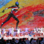 Ballerini in azione nella presentazione delle Olimpiadi e Paralimpiadi invernali