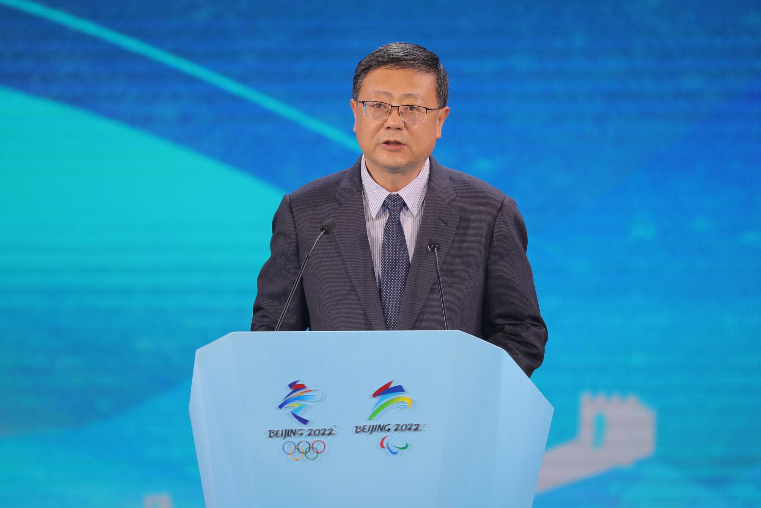 Chen Jining, sindaco di Pechino, al lancio dell'edizione delle Olimpiadi invernali